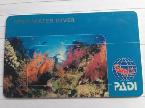 PADI OPEN WATER DIVER  LICENCE